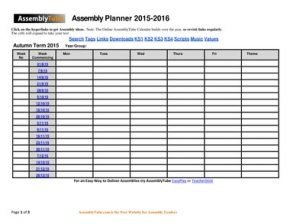 5 Minute Assembly Plan