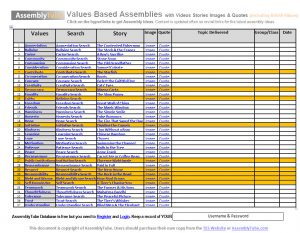 Values Assemblies Ideas