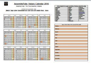 Assembly Year Calendar